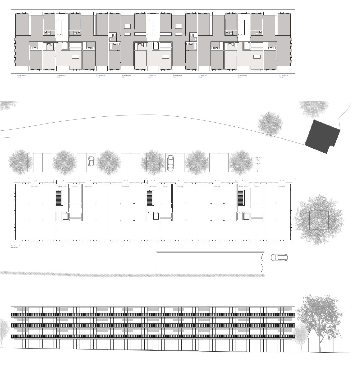 434 4 Grundrisse Fassade