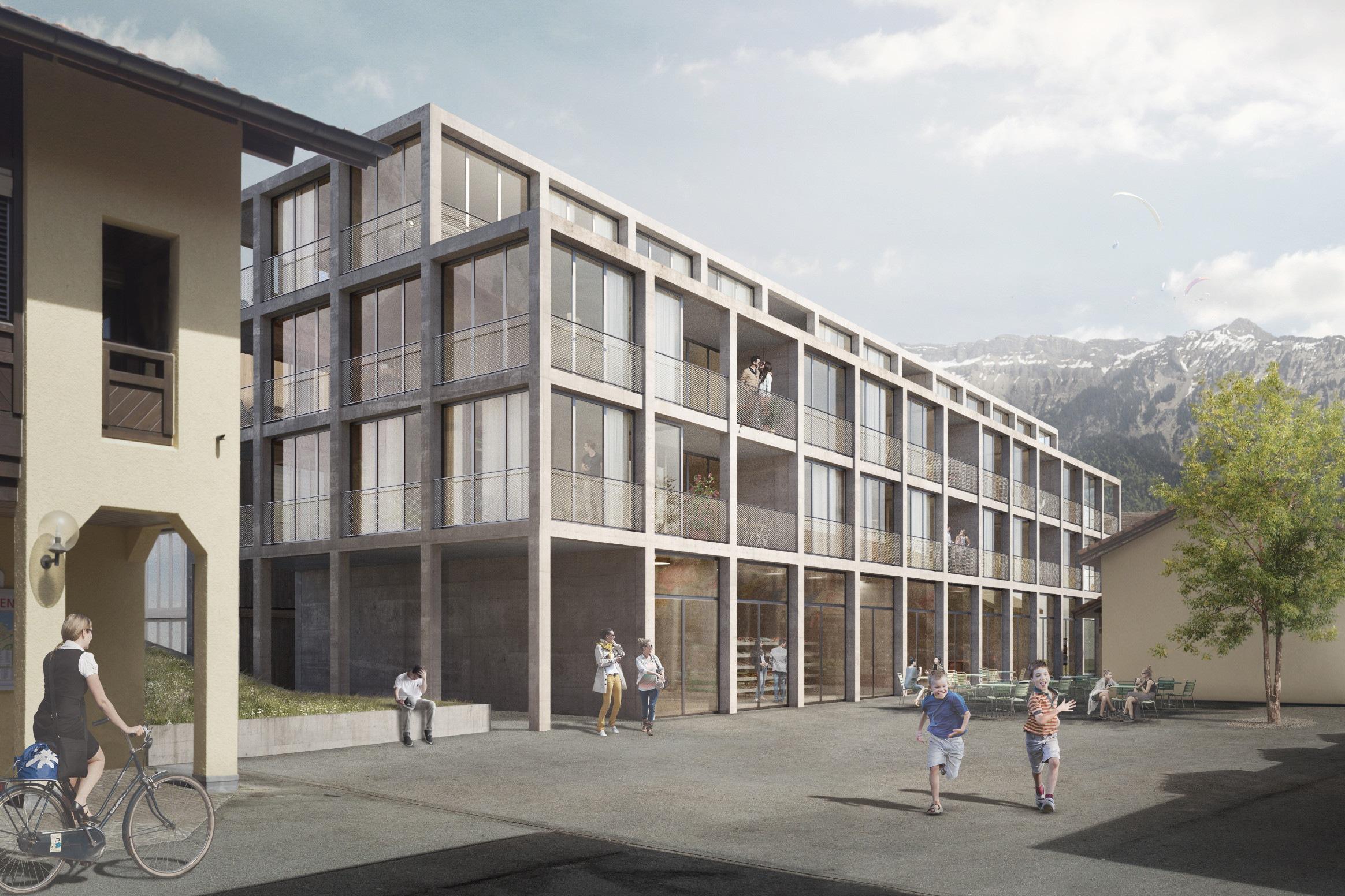 439 2 15101 Schär Buri Architekten AG WBW Ruag Areal Unterseen EXT a 150521