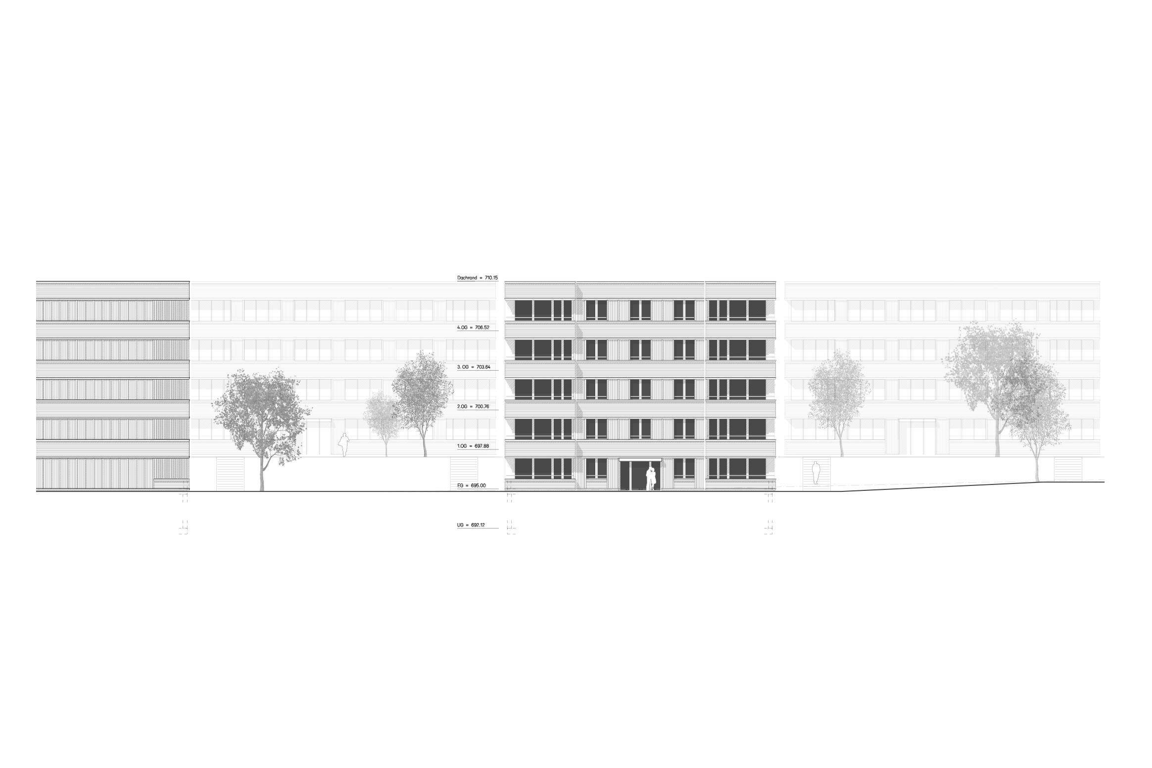 498 5 Westfassade Wohnhäuser